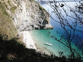 Secluded bay on the North Cornwall coast